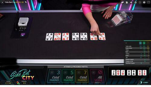 Side bet city 7 card hand